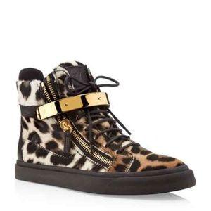 GIUSEPPE ZANOTTI Leopard Sneakers